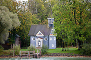 Herrenchiemsee Chapel on island in Chiemsee Lake in Baden-Wurttenberg, Bavaria, Germany