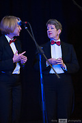 The Ball Point Penguins on stage in the Guildford Town Hall, part of the 2018 Guildford Songfest