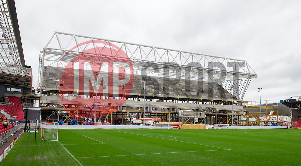 General view of the West Stand currently being built at Ashton Gate - Mandatory by-line: Paul Knight/JMP - Mobile: 07966 386802 - 19/12/2015 -  FOOTBALL - Ashton Gate Stadium - Bristol, England -  Bristol City v Queens Park Rangers - Sky Bet Championship