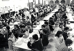Dinnertime, primary school, Nottingham UK 1991