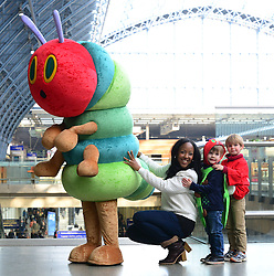 TV presenter Angellica Bell takes part in photocall to launch new UK fundraising event which will see toddlers forming sponsored conga lines, in association with Action for Children and bestselling children's book The Very Hungry Caterpillar at St Pancras International Station, London, United Kingdom. Wednesday, 19th February 2014. Picture by Nils Jorgensen / i-Images