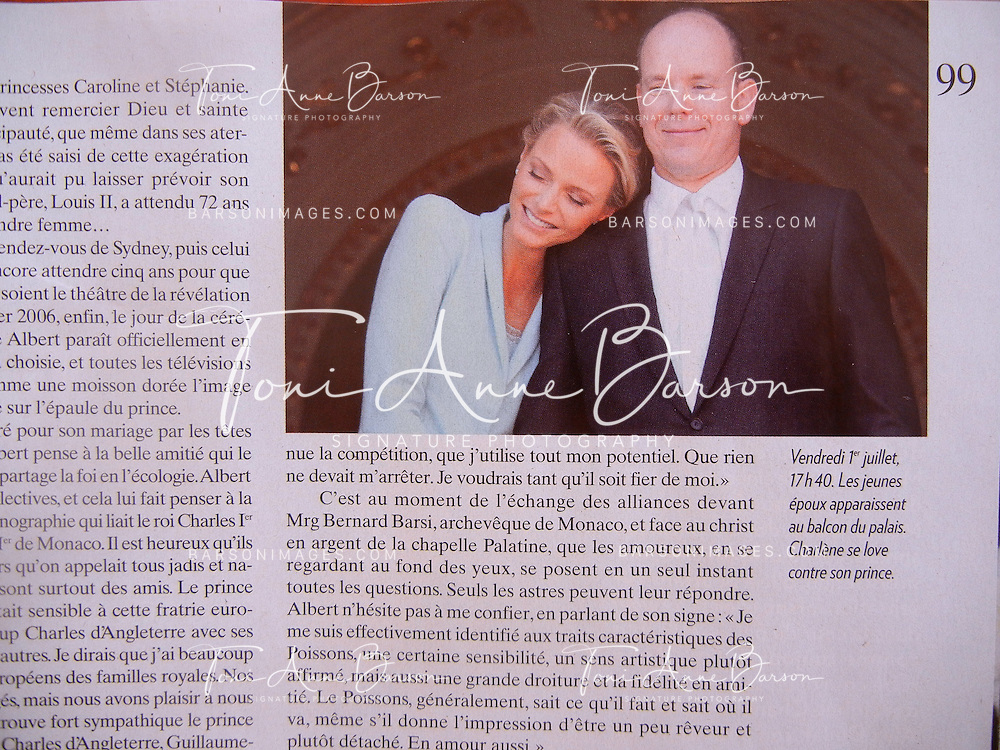 HSH Prince Albert II of Monaco and Princess Charlene  on the civil wedding day on July 2nd, 2011 - Paris Match July 2011