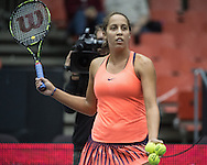 Madison Keys (USA) on Day Three of the WTA Generali Ladies Linz Open at TipsArena, Linz<br /> Picture by EXPA Pictures/Focus Images Ltd 07814482222<br /> 12/10/2016<br /> *** UK & IRELAND ONLY ***<br /> <br /> EXPA-REI-161012-5001.jpg