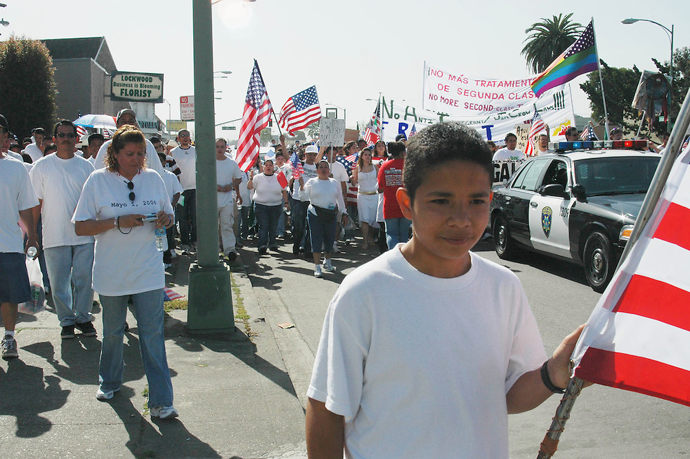 Day without Immigrants marchers in Oakland.