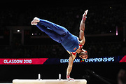 James Hall (Great Britain) the pommel horser competition during the presentation of the teams during the European Championships Glasgow 2018, Team Men Final at The SSE Hydro in Glasgow, Great Britain, Day 10, on August 11, 2018 - Photo Laurent Lairys / ProSportsImages / DPPI