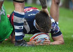Nick Fenton-Wells of Bristol Bears United scores a try - Mandatory by-line: Paul Knight/JMP - 02/12/2018 - RUGBY - Clifton RFC - Bristol, England - Bristol Bears United v Harlequins - Premiership Rugby Shield