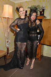 Left to right, MARISSA HERMER and SOPHIE GOODWIN at the Bumpkin Halloween Dinner hosted by Marissa Hermer held at Bumpkin, 119 Sydney Street, London on 23rd October 2014.