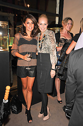 Left to right, DANIELLE LINEKER and CAMILLA DALLERUP  at a party to celebrate the publication of Inheritance by Tara Palmer-Tomkinson at Asprey, 167 New Bond Street, London on 28th September 2010.
