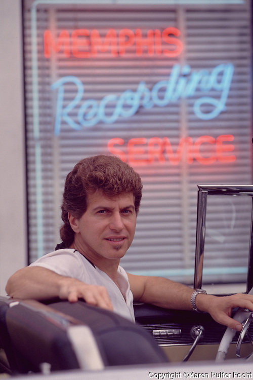 Singer Song Writer Johnny Rivers outside of Sun Studios in Memphis, Tennessee. © Karen Pulfer Focht-ALL RIGHTS RESERVED-NOT FOR USE WITHOUT WRITTEN PERMISSION