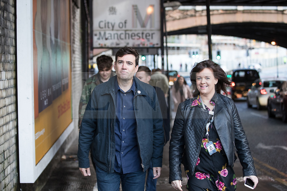 © Licensed to London News Pictures . 09/09/2017. Manchester , UK . Greater Manchester Metro Mayor ANDY BURNHAM arrives at the event . We Are Manchester reopening charity concert at the Manchester Arena with performances by Manchester artists including  Noel Gallagher , Courteeners , Blossoms and the poet Tony Walsh . The Arena has been closed since 22nd May 2017 , after Salman Abedi's terrorist attack at an Ariana Grande concert killed 22 and injured 250 . Money raised will go towards the victims of the bombing . Photo credit: Joel Goodman/LNP
