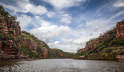 Clouds over the Sale River in the Kimberley wet season.