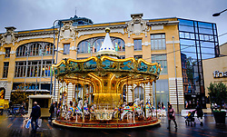Carousel in the Rue de Bayard, Toulouse, France<br /> <br /> (c) Andrew Wilson | Edinburgh Elite media