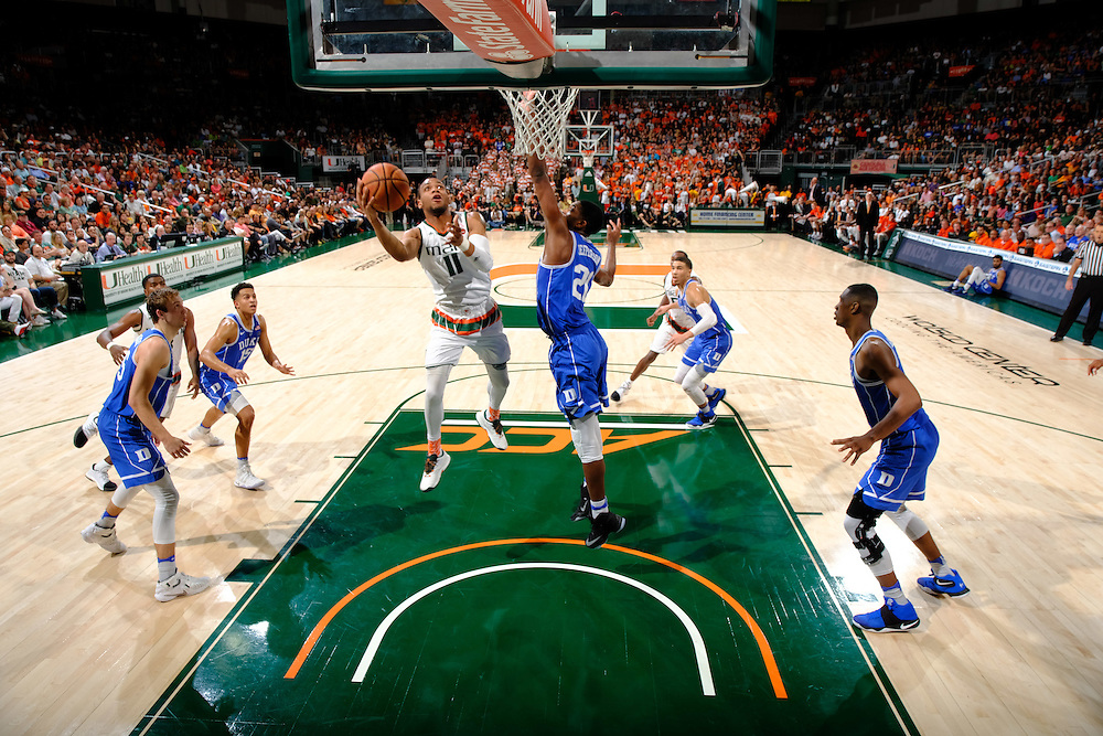 2017 Miami Hurricanes Men's Basketball vs Duke