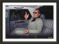 Jack Nicholson London 1996 jermyn st A2 Museum-quality Archival signed Framed Print (Limited Edition of 25)