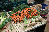 Vegetables on display at local farmers market, Ireland