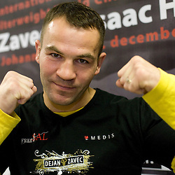 20091206: Boxing - Dejan Zavec at departure to the Welterweight World Champion title match in JAR