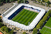 Nederland, Noord-Brabant, Tilburg, 23-08-2016; Koning Willem II-stadion van voetbalclub Willem II. Kingside.<br /> luchtfoto (toeslag op standard tarieven);<br /> aerial photo (additional fee required);<br /> copyright foto/photo Siebe Swart