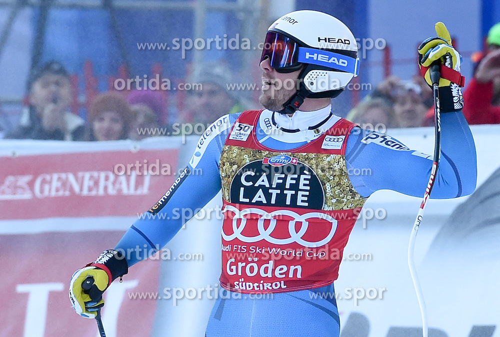 16.12.2016, Saslong, St. Christina, ITA, FIS Weltcup Ski Alpin, Groeden, Abfahrt, Herren, im Bild Kjetil Jansrud (NOR) // Kjetil Jansrud of Norway reacts after his run of men's downhill of FIS Ski Alpine World Cup at the Saslong in St. Christina, Italy on 2016/12/16. EXPA Pictures © 2016, PhotoCredit: EXPA/ Erich Spiess