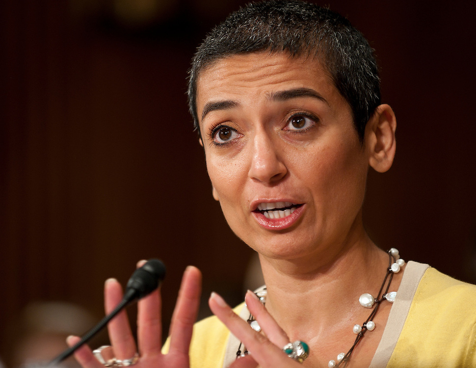 """Jul 27, 2010 - Washington, District of Columbia, U.S., -.ZAINAB SALBI, founder and CEO of Women for Women International, testifies before the Senate Foreign Relations Committee hearing on the """"Perspectives on Reconciliation Options in Afghanistan."""" (Credit Image: © Pete Marovich/ZUMA Press)"""