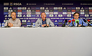 RSC Anderlecht Press Conference - 04 May 2018