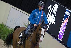 Schwizer Pius, (SUI), Toulago <br /> Training session<br /> Longines FEI World Cup™ Jumping Finals <br /> Las Vegas 2015<br />  © Hippo Foto - Dirk Caremans<br /> 15/04/15