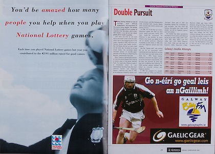 All Ireland Senior Hurling Championship - Final,.11.09.2005, 09.11.2005, 11th September 2005,.Minor Galway 3-12, Limerick 0-17,.Senior Cork 1-21, Galway 1-16,.11092005AISHCF,.National Lottery, Gaelic Gear,