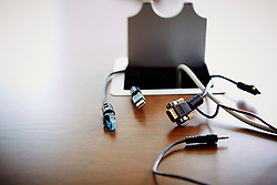 Aug. 7, 2014 - Unconnected computer leads on desk (Credit Image: © Image Source/Image Source/ZUMAPRESS.com)