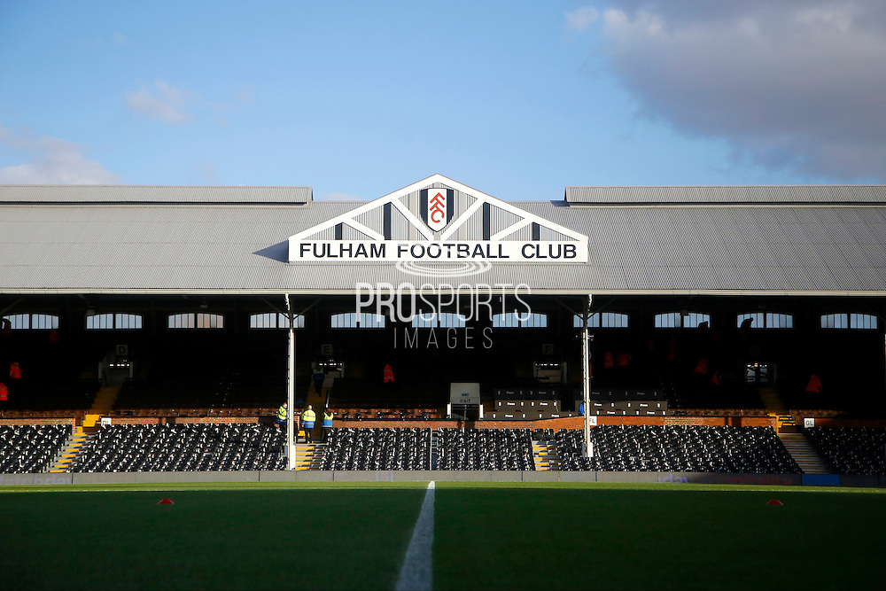 Craven Cottage before the EFL Sky Bet Championship match between Fulham and Reading at Craven Cottage, London, England on 3 December 2016. Photo by Andy Walter.