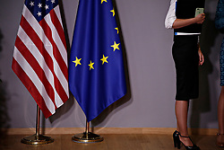 May 25, 2017 - Brussels, Belgium - US President Donald Trump meets with European Commission President Jean-Claude Juncker and Donald Tusk President of the European Council at the European Council building in Brussels, Belgium, on May 25, 2017. (Credit Image: © Alexandros Michailidis/Depo Photos via ZUMA Wire)