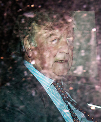 © Licensed to London News Pictures. 26/07/2015. London, UK. Ken Clarke leaving the Old Bailey after giving evidence against Ben Fellows who is accused of perverting the course of justice by making claims that Clarke assaulted him in 1994.  Photo credit : James Gourley/LNP