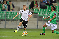 Fotball<br /> 17.09.2015<br /> Foto: Panoramic/Digitalsport<br /> NORWAY ONLY<br /> <br /> Benoit Assou Ekotto (saint etienne) vs Jonas Svensson (rosenborg)<br /> <br /> Saint Etienne vs Rosenborg - Europa League - 17/09/2015