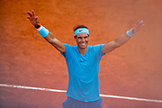 RAFAEL NADAL (ESP) won and had reactions during the Roland Garros French Tennis Open 2018, single Final Men, on June 10, 2018, at the Roland Garros Stadium in Paris, France - Photo Stephane Allaman / ProSportsImages / DPPI
