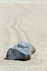 Moving rock on Racetrack Playa, Death Valley National Park, California, United States of America