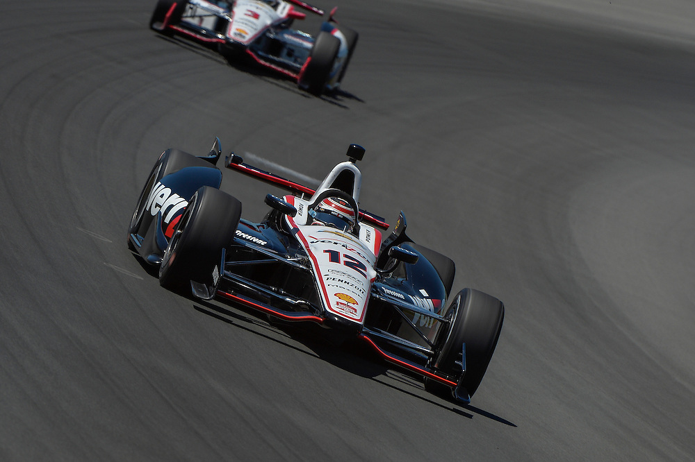 Will Power, Helio Castroneves, Pocono Raceway, USA 7/6/2014