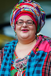 © Licensed to London News Pictures. 15/10/2015. London, UK. Camila Batmanghelidjh arriving at Portcullis House to give evidence on Kids Company to the Commons Public Administration Committee in London on Thursday, 15 October 2015. Photo credit: Tolga Akmen/LNP