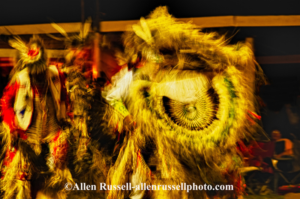 Crow Fair, powwow, Traditional Dancers, Crow Indian Reservation, Montana, blurred motion