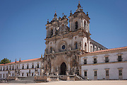 The exterior of Alcobaca Monastery, Portugal.