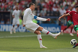June 20, 2018 - Moscow, U.S. - MOSCOW, RUSSIA - JUNE 20: forward Cristiano Ronaldo of Portugal during a Group B 2018 FIFA World Cup soccer match between Portugal and Morocco on June 20, 2018, at Luzhniki Stadium in Moscow, Russia. (Photo by Anatoliy Medved/Icon Sportswire) (Credit Image: © Anatoliy Medved/Icon SMI via ZUMA Press)