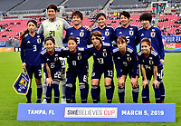 International Women's Friendly Matchs 2019 / <br /> SheBelieves Cup Tournament 2019 - <br /> Japan vs England 0-3 ( Raymond James Stadium - Tampa-FL,Usa ) - <br /> Team of Japan ,Pose prior the match Against England ,From the left up :Aya Sameshima ,Erina Yamane ,Moeka Minami ,Risako Oga ,Arisa Matsubara ,Jun Endo //<br /> Risa Shimizu ,Moeno Sakaguchi ,Mayu Ikejiri ,Hina Sugita ,Yui Hasegawa