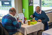 FGR dining during the Vanarama National League match between Forest Green Rovers and Maidstone United at the New Lawn, Forest Green, United Kingdom on 22 April 2017. Photo by Shane Healey.