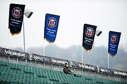A Bath rugby supporter arrives early - Mandatory byline: Patrick Khachfe/JMP - 07966 386802 - 09/11/2019 - RUGBY UNION - The Recreation Ground - Bath, England - Bath Rugby v Northampton Saints - Gallagher Premiership