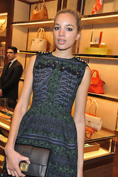 PHOEBE COLLINGS-JAMES at the Salvatore Ferragamo Old Bond Street Boutique Store Launch on 5th December 2012.