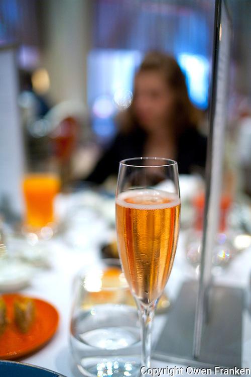 luncheon service at Restaurant Alain Ducasse, Hotel Plaza Athenee, paris...Photograph by Owen Franken .