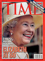 Anwar Hussein photo of Queen Elizabeth ll on cover of Time Magazine on April 17, 2006..