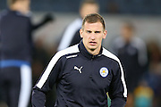 Leicester City midfielder Marc Albrighton  during the Barclays Premier League match between Leicester City and Manchester City at the King Power Stadium, Leicester, England on 29 December 2015. Photo by Simon Davies.
