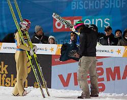 06.01.2012, Paul Ausserleitner Schanze, Bischofshofen, AUT, 60. Vierschanzentournee, FIS Ski Sprung Weltcup, 1. Wertungssprung, im Bild Robert Kranjec (SLO) // Robert Kranjec of Slovenia during 1st Round of 60th Four-Hills-Tournament FIS World Cup Ski Jumping at Paul Ausserleitner Schanze, Bischofshofen, Austria on 2012/01/06. EXPA Pictures © 2012, PhotoCredit: EXPA/ Johann Groder