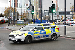 © Licensed to London News Pictures. 12/11/2018. London, UK. Police have closed off Vauxhall junction in central London tube to a suspicious vehicle. Photo credit: Peter Macdiarmid/LNP