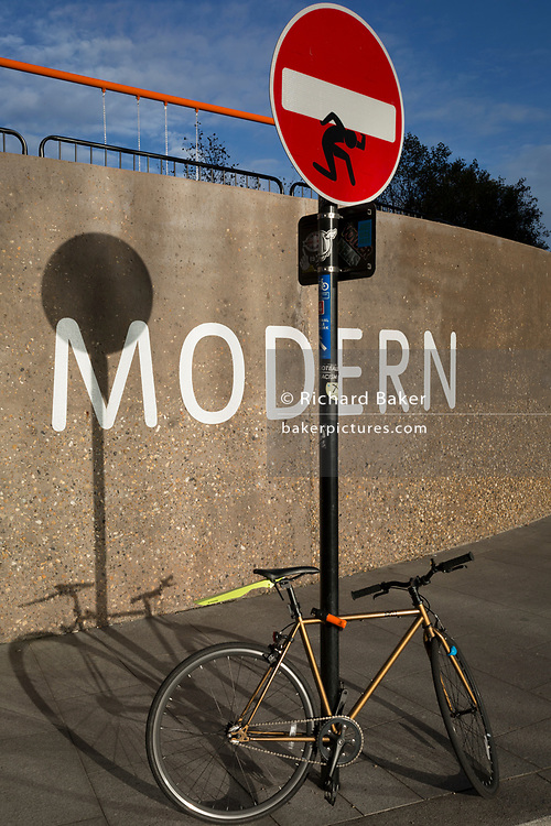 A bike landscape outside the Tate Modern art gallery on the Southbank, on 13th November 2017, in London, England.