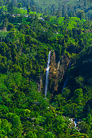 Waterfalls, Ramboda, near Nuwara Eliya, Central Province, Sri Lanka.