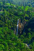Waterfalls, Ramboda, near Nuwara Eliya, Central Province, Sri Lanka.